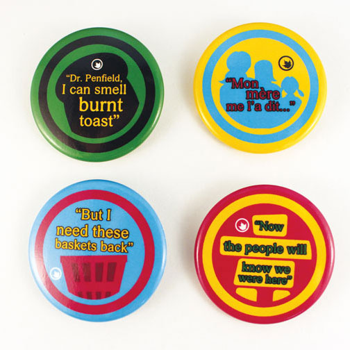 Heritage Minutes – 4 Button Set