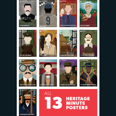 Heritage Minutes - 13 Poster Set