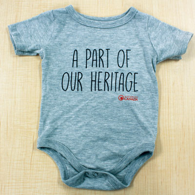 Baby Onesie – Part Of Our Heritage